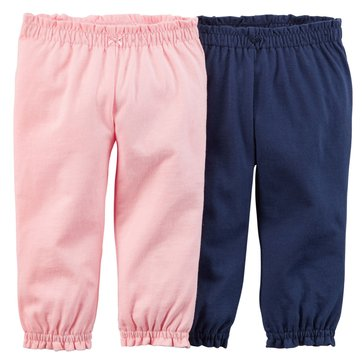 Carter's Baby Girls' 2-Pack Navy Pants