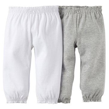 Carter's Baby Girls' 2-Pack Grey Pant
