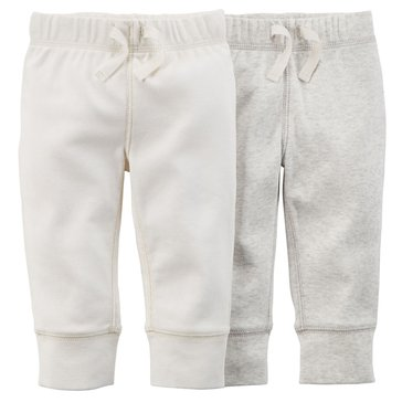 Carter's Newborn 2-Pack Ivory Pant