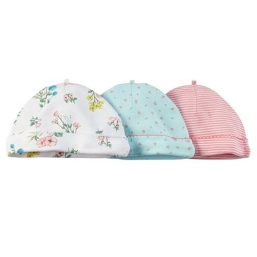Carter's Baby Girls' 3-Pack Pink Hat