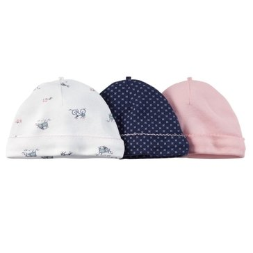 Carter's Baby Girls' 3-Pack Navy Hat