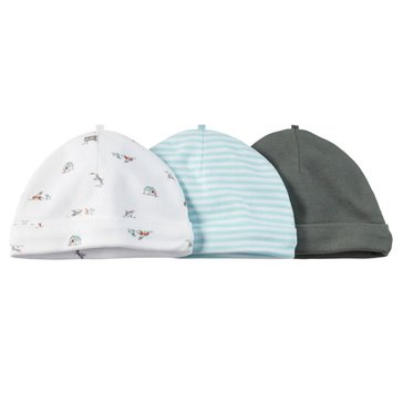 Carter's Baby Boys' 3-Pack Blue Hats