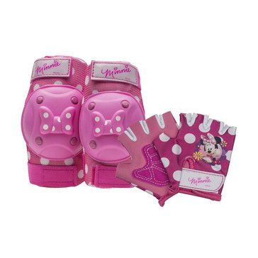 Minnie Mouse Bike Pad & Glove Set