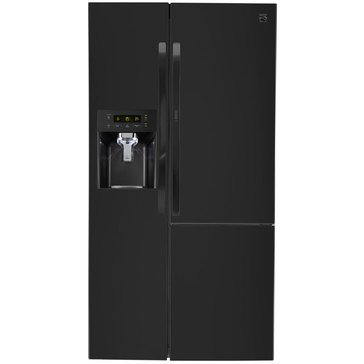 Kenmore 26.1-Cu.Ft. Side-by-Side Refrigerator w/ Grab-N-Go Door, Black (46-51839)