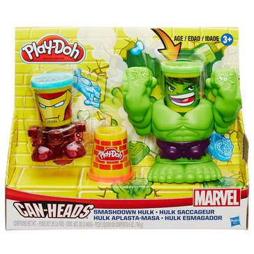 Play-Doh Marvel Super Heroes Can-Heads Smashdown Hulk