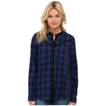 BlankNYC Long Sleeve Plaid Top