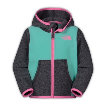 The North Face Baby Girls' Glacier Zip Hoodie, Surf Green