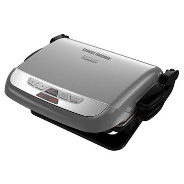 George Foreman Multi-Plate Evolve Grill With Ceramic Grilling and Waffle Plates (GRP4842P)