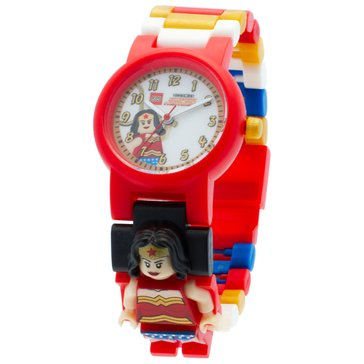 LEGO Kids' Wonder Woman Minifigure Watch