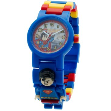 LEGO Kids' Superman Minifigure Link Watch