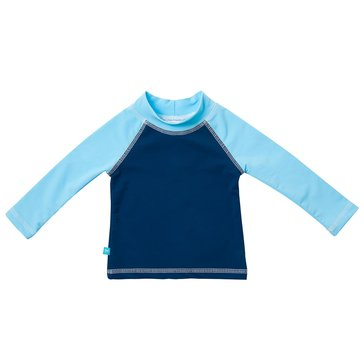 The Honest Company Blue Swim Shirt, Small (3-6M)