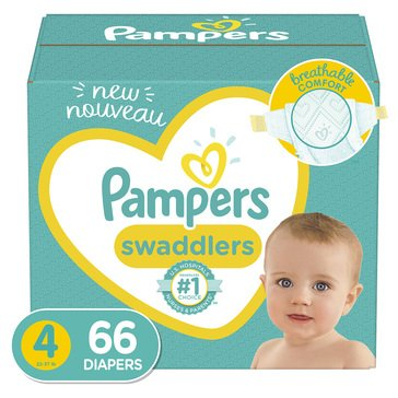 Pampers Swaddlers Super Pack 66-70-Count Diapers Size 4