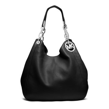 MICHAEL Michael Kors Fulton Large Shoulder Tote Black