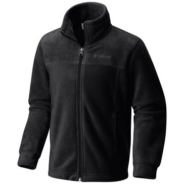 Columbia Little Boys' Steens II Full-Zip Fleece Jacket, Black