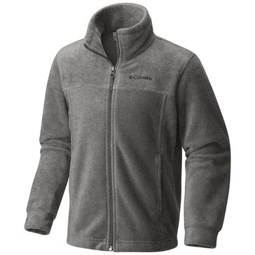 Columbia Big Boys' Steens II Full-Zip Fleece Jacket, Charcoal