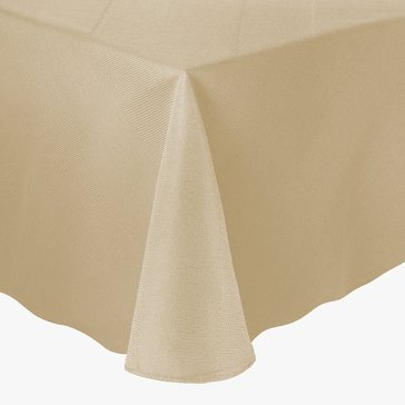 Gold Collection Twill 60' Round Tablecloth, Ivory