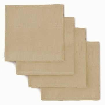 Gold Collection Twill Napkins, Set of 4, Ivory