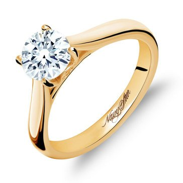 Navy Star 1 ct.tw. Solitaire Ring, 14K