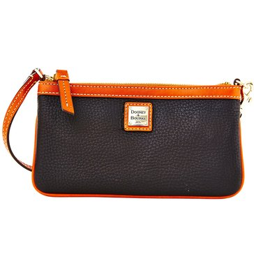 Dooney & Bourke Pebble Large Slim Wristlet Black