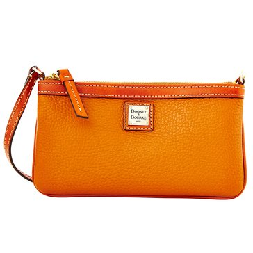 Dooney & Bourke Pebble Large Slim Wristlet Caramel
