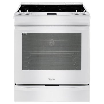 Whirlpool 6.2-Cu.Ft. Slide-In Electric Range w/ Convection, White (WEE730H0DW)