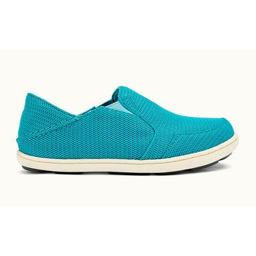 Olukai Nohea Mesh Girls' Slip On Casual Shoe Marine/ Sea Glass