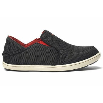 Olukai Nohea Mesh Girls' Slip On Casual Shoe Black/ Sour Cherry