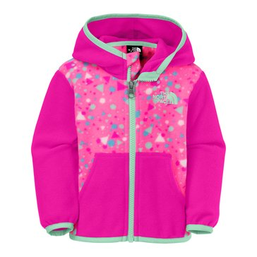 The North Face Baby Girls' Glacier Full Zip Hoodie, Gem Pink