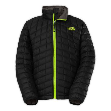 The North Face Big Boys' Thermoball Full Zip Jacket, TNF Black