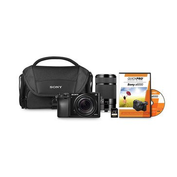 Sony Alpha a6000 24.3MP Mirrorless Digital Camera Bundle - Includes 18-55MM & 55-210MM Lenses