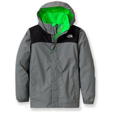 The North Face Big Boys' Resolve Rain Jacket, Monument Grey