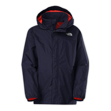 The North Face Big Boys' Resolve Rain Jacket, Cosmic Blue