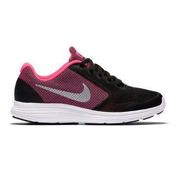 Nike Revolution 3 Girls' Running Shoe Black/ Hyper Pink