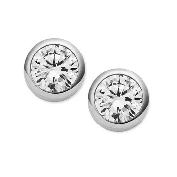Michael Kors Silver Tone Glam Studs
