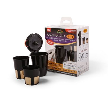 Solofill 2-in-1 Refillable Filter Cup (10727-01-BLK)