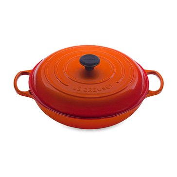 Le Creuset 3.75-Quart Braiser, Flame