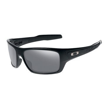 Oakley Standard Issue Men's Turbine Polarized Sunglasses, Matte Black/Grey