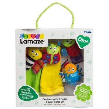 LAMAZE GARDENBUG FOOT FINDER AND WRIST WRATTLE SET