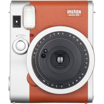 Fuji Instax Mini 90 Classic Instant Camera with 60MM Retractable Lens- Brown