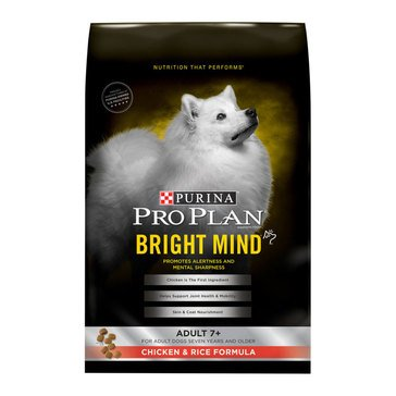 Pro Plan Bright Mind 7+ Senior Chicken & Rice Dry Dog Food, 5 lbs.