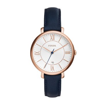 Fossil Women's Jacqueline Leather Strap Watch, 38mm