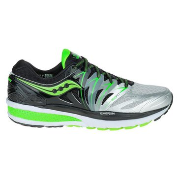 Saucony Hurricane ISO 2 Wide Black / Silver / Slime Men's Running Shoe