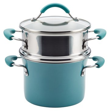Rachael Ray 3-Quart Multipot w/ Steamer, Blue