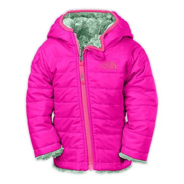 The North Face Baby Girls' Reversible Mossbud Swirl Jacket, Luminous Pink