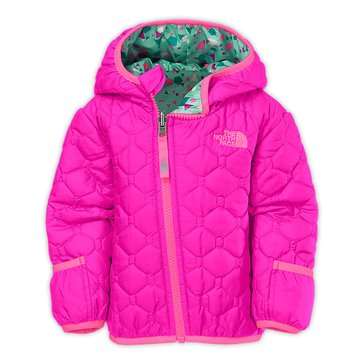The North Face Baby Girls' Reversible Perrito Jacket, Luminous Pink