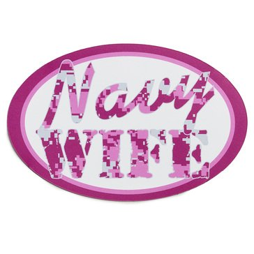 Mitchell Proffitt USN Navy Wife Oval Magnet