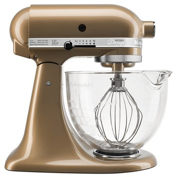 KitchenAid Artisan Design Series 5-Quart Stand Mixer with Glass Bowl - Champagne Gold (KSM155GBCZ)