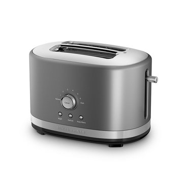 KitchenAid 2-Slice Wide Slot Toaster w/ High Lift Lever, Contour Silver (KMT2116CU)