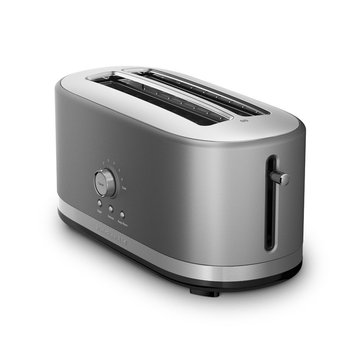 KitchenAid 4-Slice Long Slot Toaster with High Lift Lever, Contour Silver (KMT4116CU)