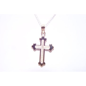 10K Cross Charm Necklace